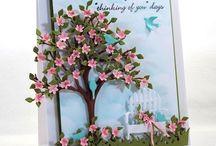 tarjetas primavera-verano / tarjetas temporadas de primavera y verano