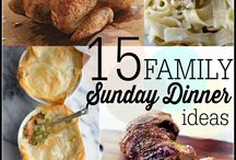 RECIPES- SUNDAY DINNER IDEAS...