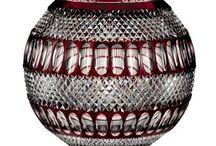 Cut crystal RUBIN / Ręcznie szlifowane wyroby kryształowe w kolorze czerwonym