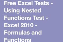 Excel Formulas & Functions Tests / Formulas and Functions in Microsoft Excel - Free Tests