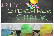 Sidewalk Chalk Kindness / Leave inspirational notes, quotes, and drawings in your neighborhood for a fun, artistic act of anonymous kindness.