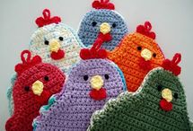 Crocheting-Hot pads and Pot holders