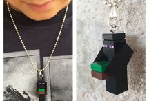 LEGO Minecraft mini figure necklace