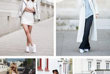 White tekkies outfits