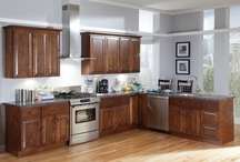Kitchen Inspiration: Loft Space with Brunette Kitchen Cabinets / Use the B. Jorgsen & Co. Bexhill Brunette and create lofty inspirations from sleek accents, modern technologies, and space saving kitchenware.