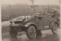 WW2 - KUBELWAGEN / VW typ 82 Kübelwagen - samochód osobowo-terenowy konstrukcji niemieckiej z okresu II wojny światowej.