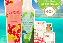 Fragrance of the Month: July / Our Take Me to the Islands Collection offers everything you need to feel mahalo!  Offered all month long at 40%off! The set includes a full size Hawaiian Ruby Guava Body Butter, Waikiki Pikake Body Wash, and an island Vanilla Spray Perfume for $30!