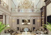 Интерьер частного дома в классическом стиле в КП «Жуковка» / В КП «Жуковка» можно увидеть изысканный дизайн интерьера в классическом стиле. В интерьере хорошо передан динамизм композиции. Декоративные элементы и мягкая мебель гостиной показывает основную черту барокко – пышность форм. Роскошный дизайн подчеркнёт высокий статус владельца квартиры.