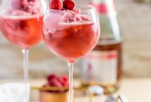 Champagne Cocktails / Strawberry Mimosas