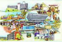 """Série Cergy-Pontoise / 10 épisodes / Chaque semaine, le Pavillon de l'Arsenal vous invite à découvrir l'exposition """"Cergy-Pontoise. Formes et fictions d'une ville nouvelle"""" et toutes les étapes de la création d'une ville; de sa genèse dans les années 1960-1970, aux premières étapes de rénovation aujourd'hui."""