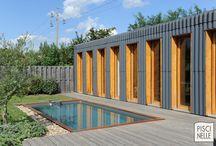 Reportage photo piscine design industriel / Découvrez un autre reportage photo sur une de nos réalisations Piscinelle. Une piscine implantée dans une ancienne usine réhabilitée.