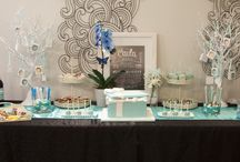 Tiffany themed dessert table by One Tier At A Time / Tiffany themed dessert table