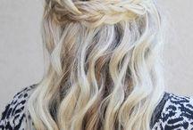 włosy half up