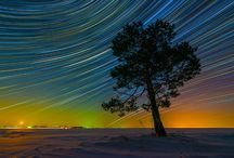 Colorful Star Trails / These are the spectacular snaps of swirling star trails which transform the night sky into a kaleidoscope of color. Keen photographer Evgeniy Zaytsev, 24, captured the stunning shots on trips to Crimea, Altai and Murom, Russia. The pictures of circular star trails are formed by merging multiple photos taken over the course of several hours. Movement of the Earth causes the stars appear in different places in each image | www.GodsFolder.com #godsfolder
