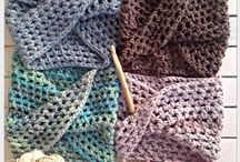 Twisted Crochet neck warmers