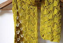roupa crochet / cachecol, boleros, vestidos e outras roupas em crochet