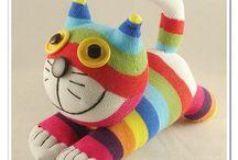 Sock animals - cats