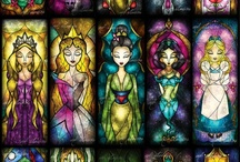 Stained glass-style