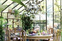 Солнечная комната, беседка, оранжерея