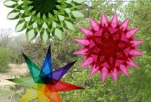 Window Stars / Straight from Europe, it's <<< Window Stars >>> Using kite or tissue paper to make to make all these lovely window star patterns.