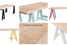 Plank and Trestle - Coastal Collection / Trestle tables designed and made by Plank and Trestle - www.plankandtrestle.com.au - www.facebook.com/plankandtrestle / by Plank and Trestle