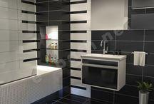 collection HARMONY - 3D απεικόνιση μπάνιου / 3D απεικόνιση μπάνιου σε κατοικία στην Θεσσαλονίκη. Ο χώρος έχει διάσταση 2,70 x 1.70 m και ύψος 2,20 m. Επενδύθηκε με πλακάκια από την σειρά Harmony με διάσταση 20 x 50 cm και γυαλιστερή επιφάνεια.