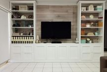 French Hampton's bookcase television unit