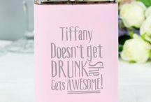 Pink Hip Flasks / Awesome Pink Hips Flasks