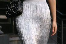 Faldas de flecos