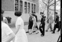 Eleanor Roosevelt Speech Collection / The Eleanor Roosevelt Speech Collection includes a radion address with corresponding transcript and photographs documenting Mrs. Roosevelt's speech to a convocation in Assembly Hall at Ball State Teachers College in Muncie, Indiana, on May 6, 1959.   To learn more about this collection visit the Eleanor Roosevelt Speech Collection in the Ball State University Digital Media Repository.