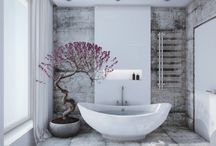 STYLISH BATHROOM IDEAS / Inspiring bathrooms full of ideas… think wooden bathroom floors, stylish bathtubs, amazing accessories