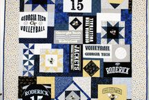 t shirt quilt ideas / by Cathy Parsons