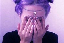 purple ❤✊✌✋☝⏳⌛