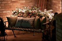 Seasonal porch deco. Ideas