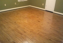 Stained cement floors / by Lolly Sneed