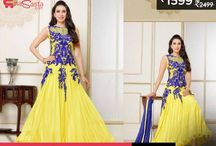 Partywear Yellow Net Gown for Rs 1599 only!! / Partywear Yellow Net Gown on sale for Rs 1599 only!!  To get info. about Daily Deals download Enasasta App: https://play.google.com/store/apps/details?id=com.mss.enasasta