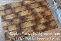 Cards - Basket Weave