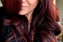 Dark red hair / Dark red hair