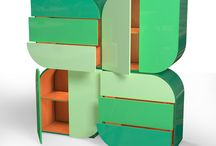 Casegoods for Kids / Looking for inspirations to decorate your kids rooms? From mirrors to bookcases, take a look at these colorful, fun and sweet pieces.