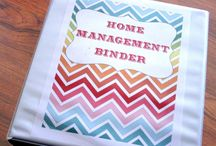 Home Management Binder / Want to get organized at home? Here's some ideas for using a home management binder to stay on track with your meal planning as well as other important household tasks.