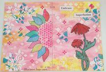 ❤️ My Art Journal and Round Robin Craftorij / mijn eigen werk