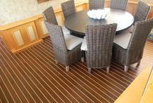 Interior Boat Flooring / Interior boat flooring for all Salon and Cabins of Yachts and Boats. The most luxurious looking and high quality vinyl products with an Incredible durability for all boaters.