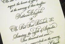 PenDance - Wedding Invitation Design - Custom Invitations / Wedding invitations designed in hand calligraphy