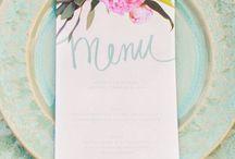 Menús / Decoración mesas boda