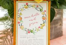 Citrus Inspired Styled Shoot @ Peachtree House / For a full list of vendors, please visit the Southern Weddings blog!  http://southernweddings.com/2015/06/22/citrus-wedding-inspiration-from-bumby-photography/