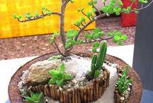 Arranjos Florais com Fibra de Coco