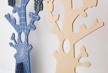 decorazione in cartone legno