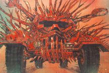 Mad max / Conceptual graphics from Mad Max 3