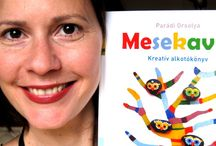 My DIY and colouring books / My first book, Mesekavics kreatív alkotókönyv means Tale Pebble Creative Book for Kids in Hungarian. My colouring book Pandala Islands contains a lots of detailed pen&ink drawings of my creatures. My third book, Pandala az allatkertben contains not only colouring sheets, but a tale of animals, some diy ideas and many interesting facts about the animals of the Budapest Zoo.