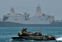 Amphibious Transport Dock Ships  / Warships that embark, transport, and land elements of a landing force for a variety of expeditionary warfare missions.